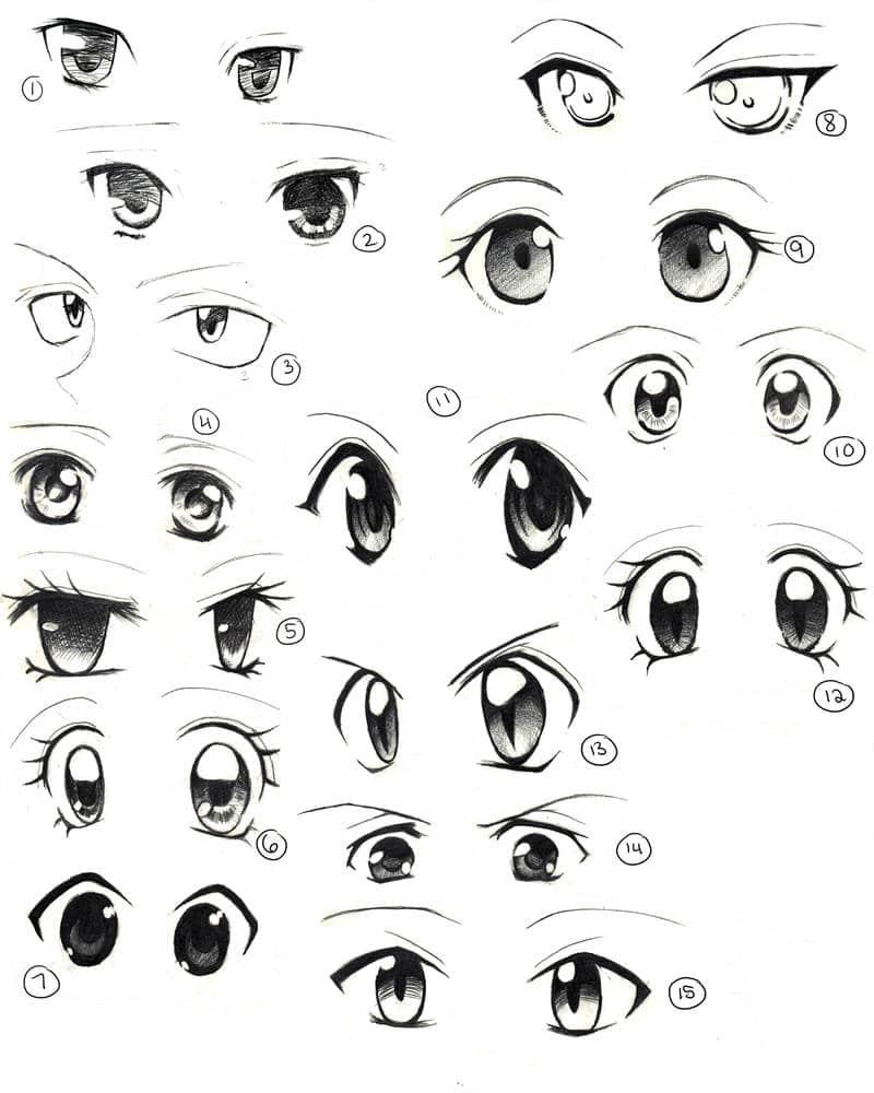 Como Desenhar Olhos Femininos De Animes E Manga Eu Geek